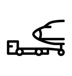 Plane tow truck icon outline vector