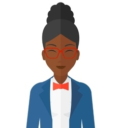 Pleased woman with her eyes closed vector image