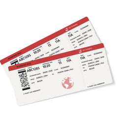 red and white boarding pass vector image