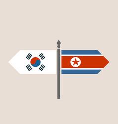 Relationships between south korea and north korea vector