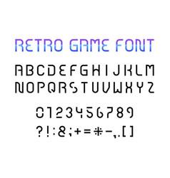 retro game font vector image