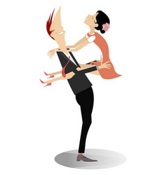 romantic young couple isolated vector image