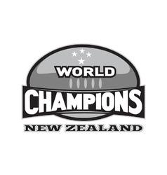 Rugball world champions vector
