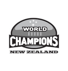 Rugby ball world champions vector