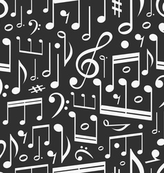 seamless background music notes vector image