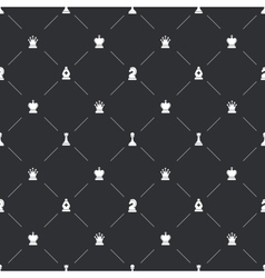 Seamless pattern with white chess icons for book vector image