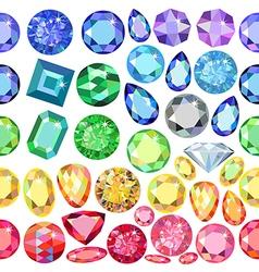 Seamless scattered gems rhinestones vector