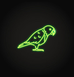senegal parrot icon in glowing neon style vector image