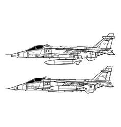 Sepecat jaguar vector