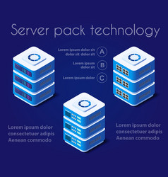 server network technology vector image