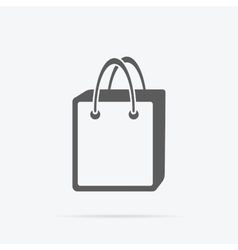 Simple Shopping Bag Icon vector image