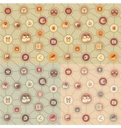 Social Media Pattern vector