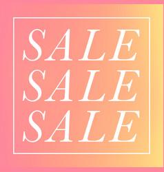 Stylish simple sale vector