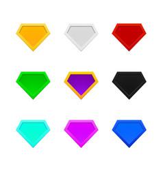 superhero logo templates collection vector image