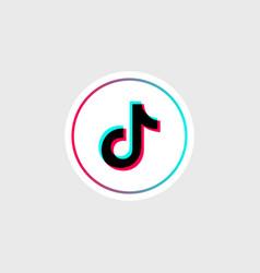 tik tok glitch icon social media odessa vector image