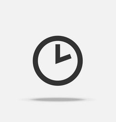 time clock icon object and business concept sign vector image
