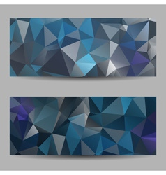 triangle banner dark blue silver vector image