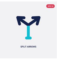 Two color split arrows icon from arrows concept vector