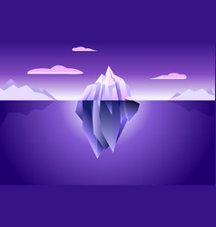 Ultra violet iceberg wallpaper vector