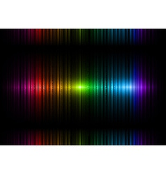 vertical lines abstract rainbow dark top center vector image
