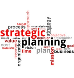word cloud strategic planning vector image