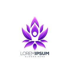 yoga logo design vector image