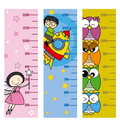Children height meter vector image