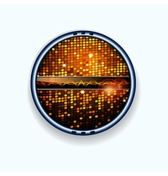 Disco wall border and soundwaves vector image vector image