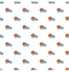 heavy construction tipper pattern seamless vector image vector image