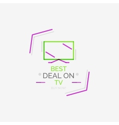 Minimal line design shopping stamps TV vector image vector image