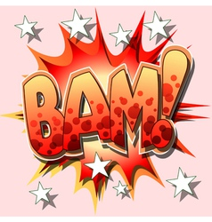 bam cartoon vector image vector image