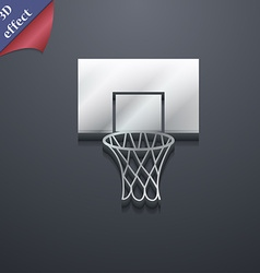 Basketball backboard icon symbol 3D style Trendy vector image vector image