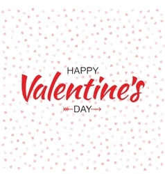 Red Happy Valentines Day Card hearts background vector image
