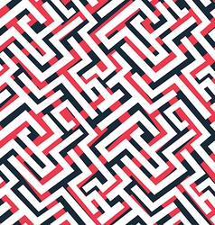 red maze pattern vector image vector image