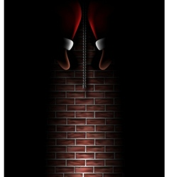 Santa Claus in chimney vector image vector image