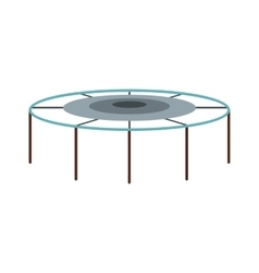 Trampoline jumping icon flat style vector image