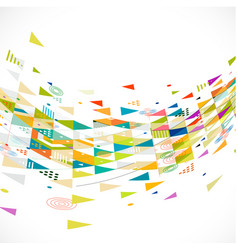 abstract creative mix geometrical with flow shape vector image vector image