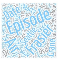 Frasier DVD Review text background wordcloud vector image vector image
