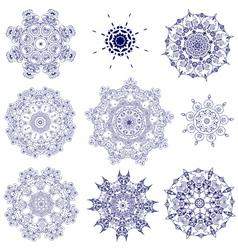 set arabesque openwork vector image vector image