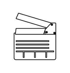Clapboard icon movie design graphic vector