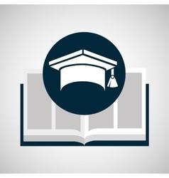 education opened book graduation cap vector image