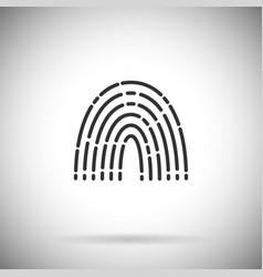 Finger print icon simple fingerprint vector