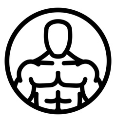 Fitness man icon vector image