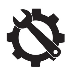 service tools icon on white background service vector image