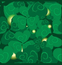 shamrock pattern for st patrick day vector image