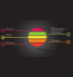 3d infographic template with embossed ring vector image