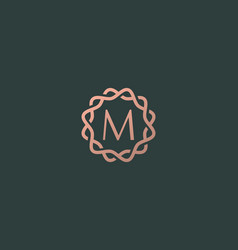 Abstract linear monogram letter m logo icon design vector