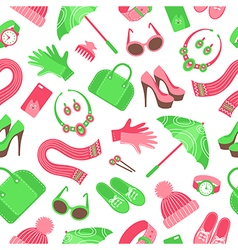 accessories pattern vector image