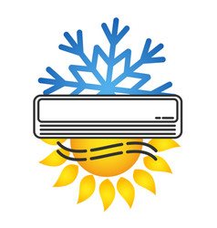 air conditioning for room symbol vector image