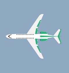 Airliner transportation journey white plane top vector